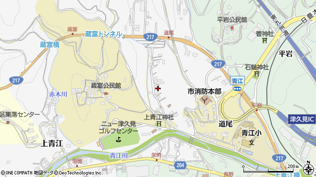 大分県津久見市上青江3321周辺の地図