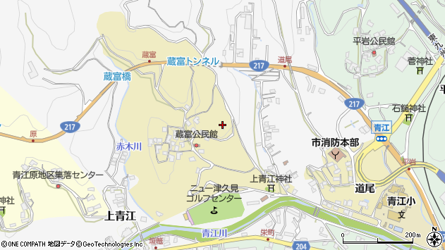 大分県津久見市上青江3246周辺の地図
