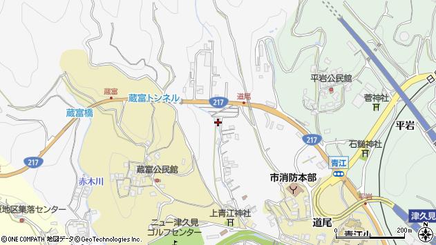 大分県津久見市上青江3385周辺の地図