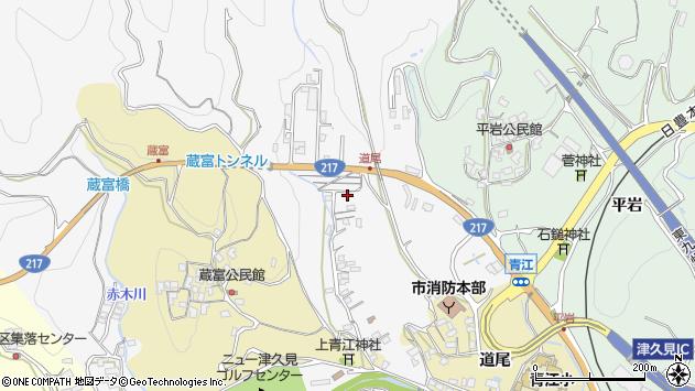 大分県津久見市上青江3349周辺の地図