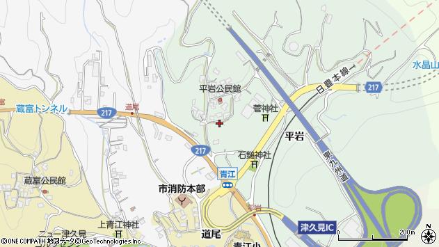 大分県津久見市上青江4026周辺の地図