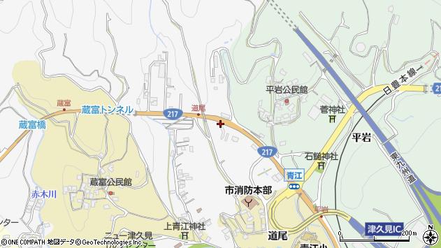 大分県津久見市上青江3673周辺の地図