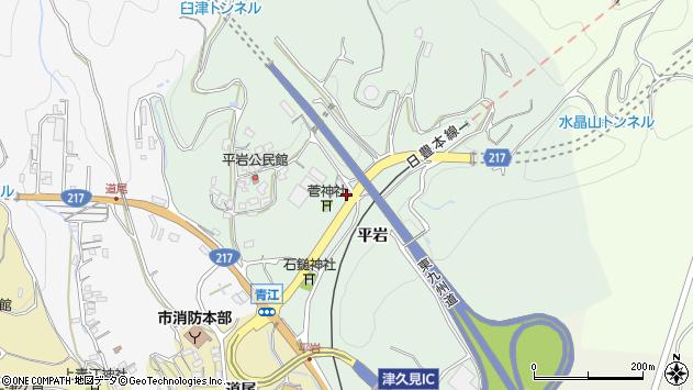 大分県津久見市上青江4277周辺の地図