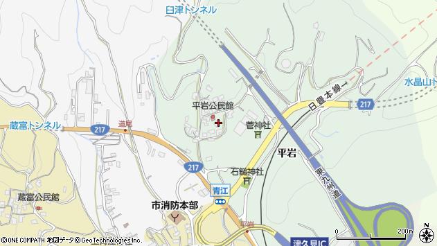 大分県津久見市上青江4018周辺の地図