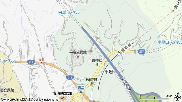 大分県津久見市上青江4185周辺の地図