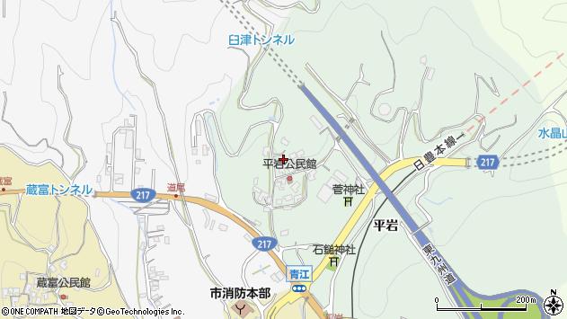大分県津久見市上青江4052周辺の地図