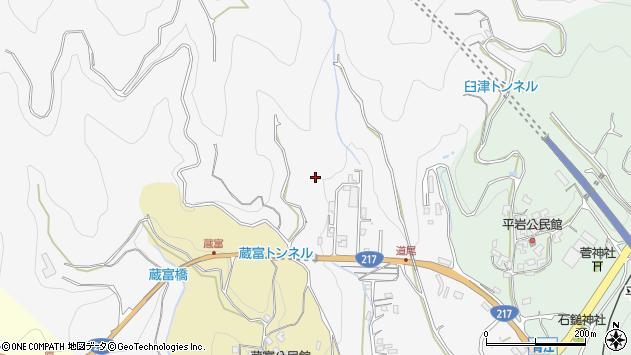 大分県津久見市上青江田原周辺の地図