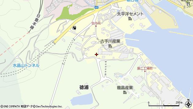大分県津久見市合ノ元町1周辺の地図