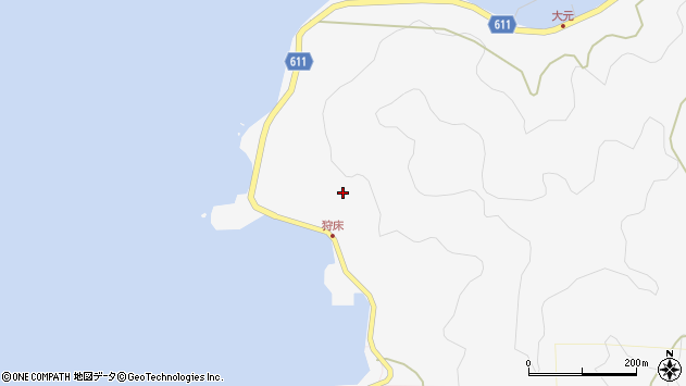 大分県津久見市四浦狩床周辺の地図