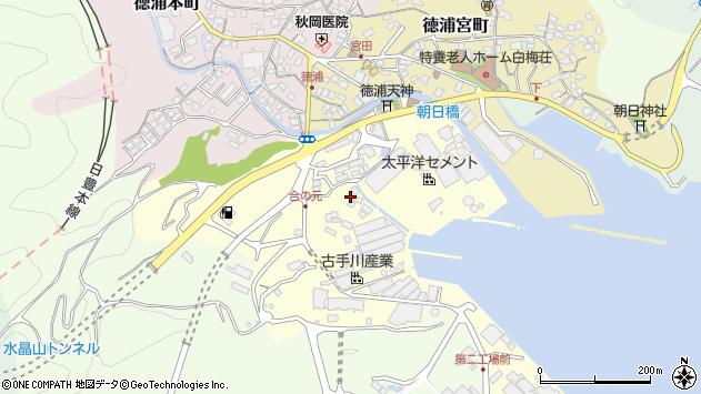 大分県津久見市合ノ元町7周辺の地図
