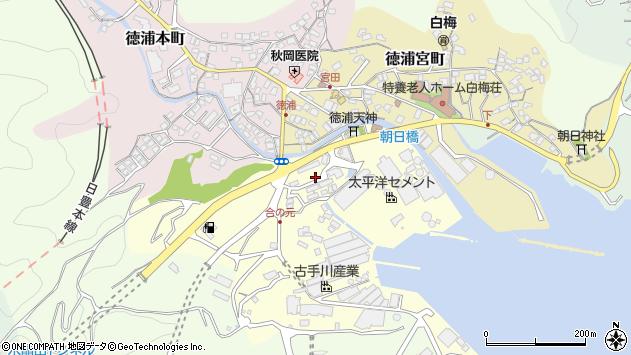 大分県津久見市合ノ元町6周辺の地図