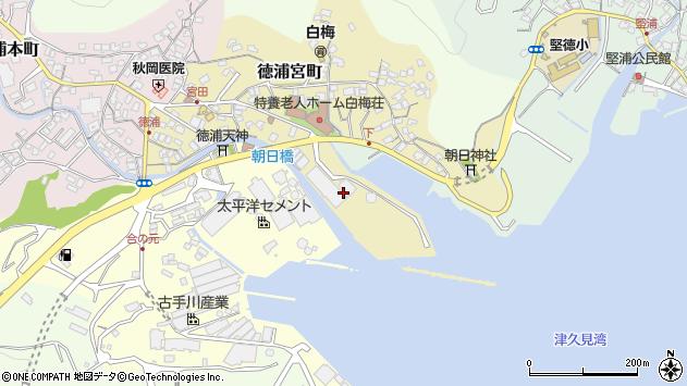 大分県津久見市徳浦宮町7周辺の地図