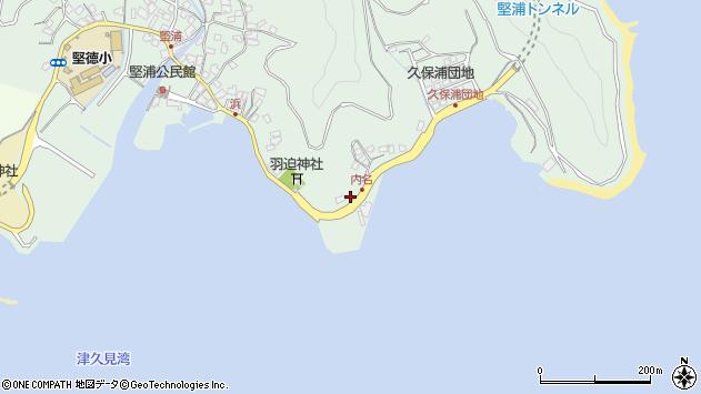 大分県津久見市堅浦1113周辺の地図