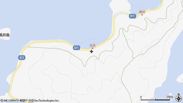 大分県津久見市四浦6884周辺の地図