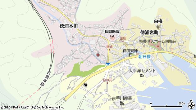 大分県津久見市徳浦本町4周辺の地図