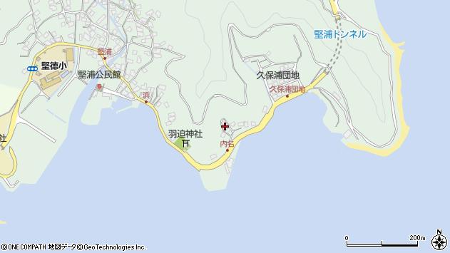 大分県津久見市堅浦1126周辺の地図
