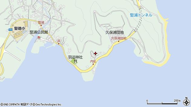 大分県津久見市堅浦1121周辺の地図