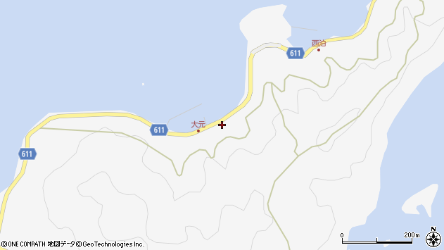 大分県津久見市四浦6968周辺の地図