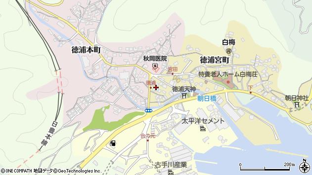 大分県津久見市徳浦宮町周辺の地図