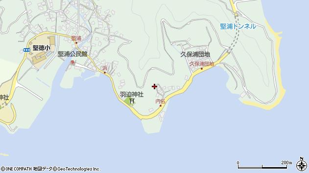 大分県津久見市堅浦1125周辺の地図