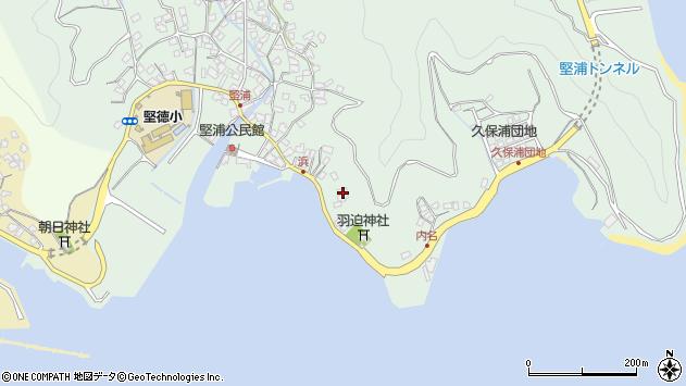 大分県津久見市堅浦1068周辺の地図