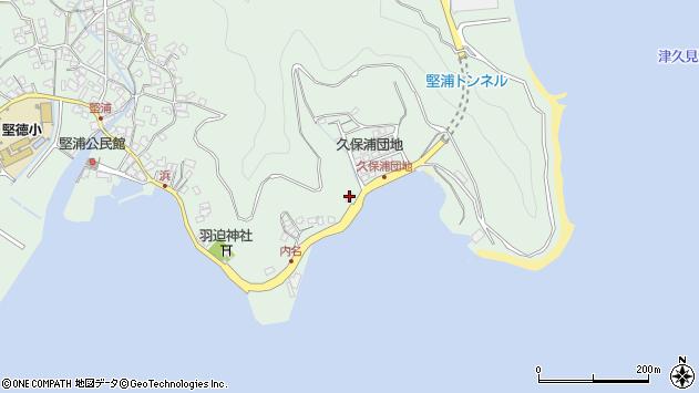 大分県津久見市堅浦1181周辺の地図