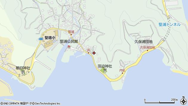 大分県津久見市堅浦1052周辺の地図