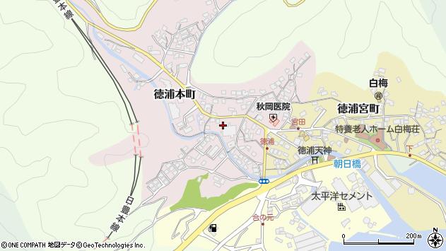大分県津久見市徳浦本町3周辺の地図