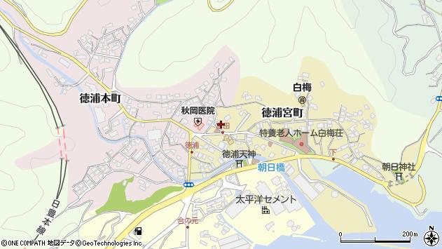 大分県津久見市徳浦宮町4周辺の地図