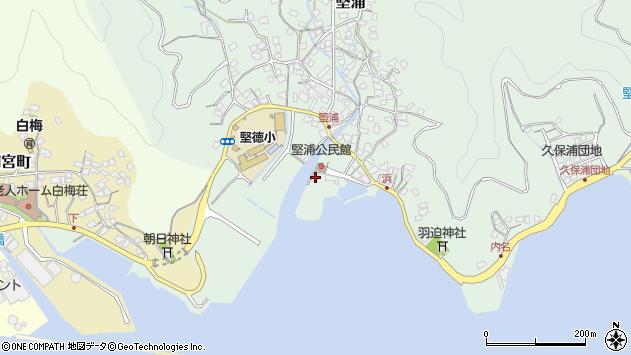 大分県津久見市堅浦1760周辺の地図