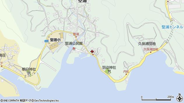 大分県津久見市堅浦1043周辺の地図