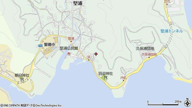 大分県津久見市堅浦1095周辺の地図