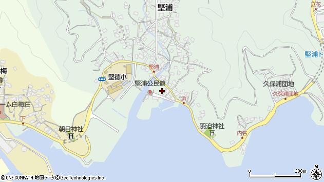 大分県津久見市堅浦925周辺の地図
