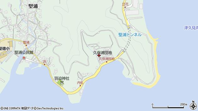 大分県津久見市堅浦1261周辺の地図