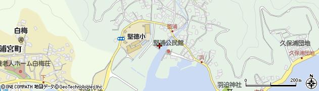 大分県津久見市堅浦1750周辺の地図
