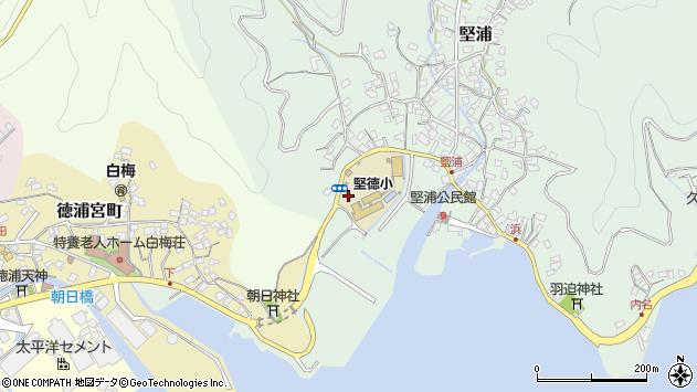 大分県津久見市堅浦2周辺の地図