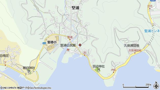 大分県津久見市堅浦931周辺の地図