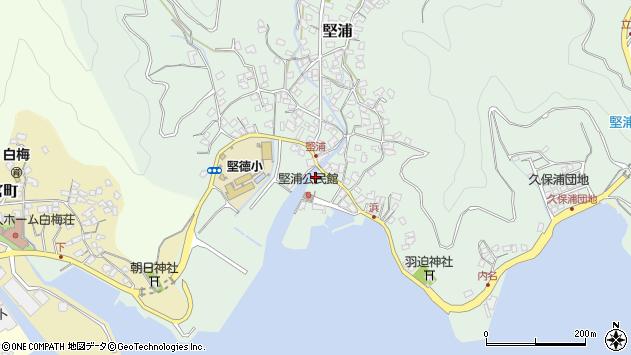 大分県津久見市堅浦923周辺の地図