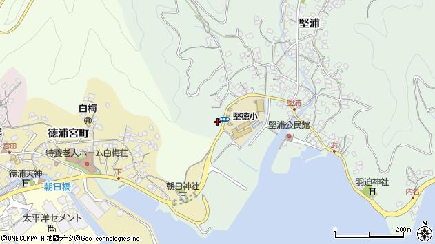 大分県津久見市堅浦27周辺の地図