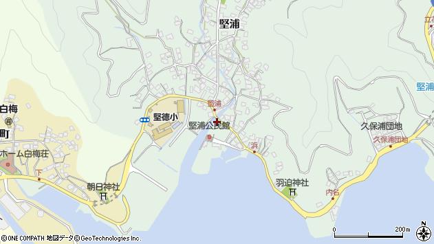 大分県津久見市堅浦193周辺の地図