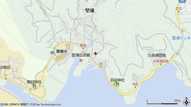 大分県津久見市堅浦933周辺の地図