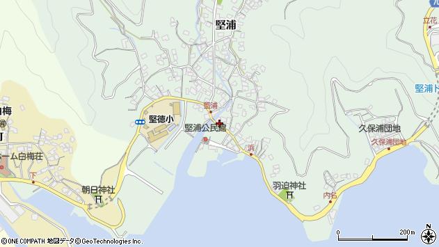 大分県津久見市堅浦924周辺の地図