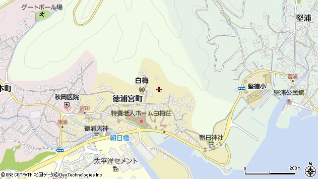 大分県津久見市徳浦宮町9周辺の地図