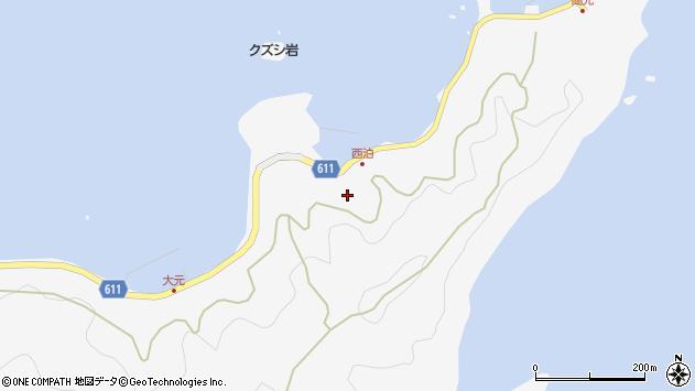 大分県津久見市四浦7258周辺の地図
