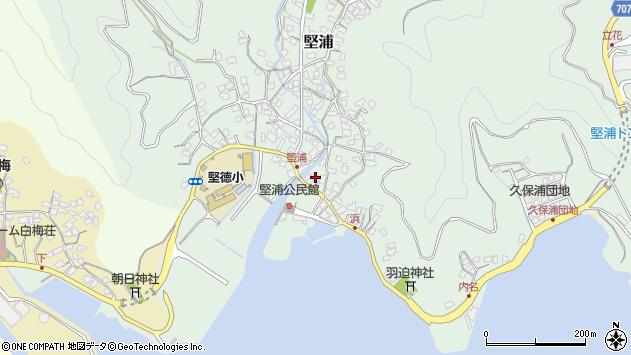 大分県津久見市堅浦920周辺の地図