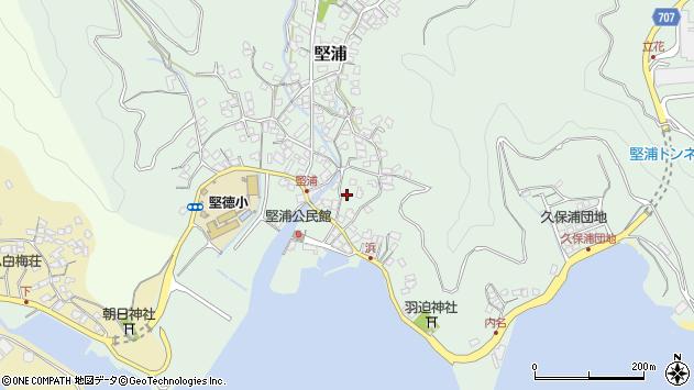 大分県津久見市堅浦916周辺の地図