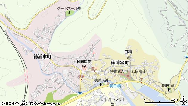 大分県津久見市徳浦本町8周辺の地図