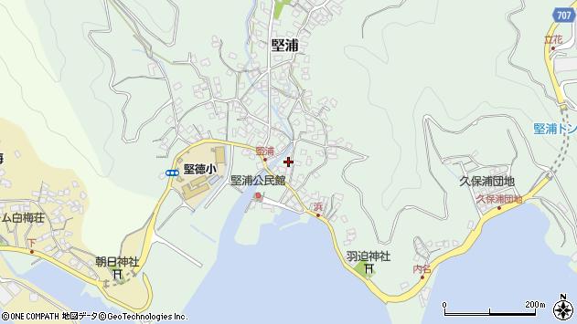 大分県津久見市堅浦915周辺の地図