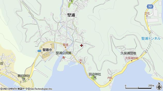 大分県津久見市堅浦939周辺の地図