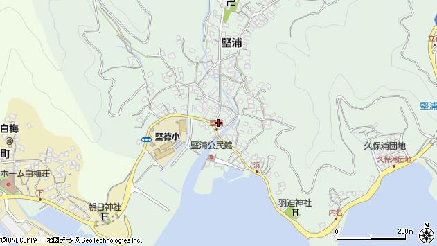 大分県津久見市堅浦183周辺の地図